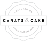 Carats and cake Wedding Badge