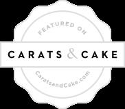 Carats and cake Wedding Badge