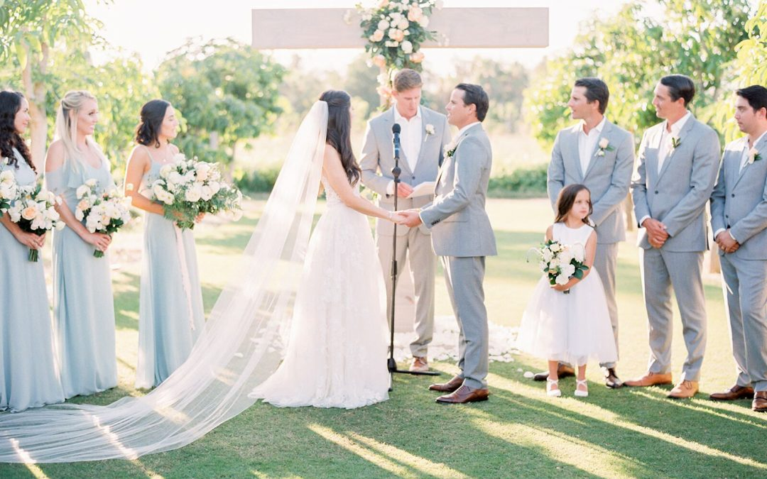 Romantic Flora Farms Wedding in Blue Hues Featured on Carats & Cake