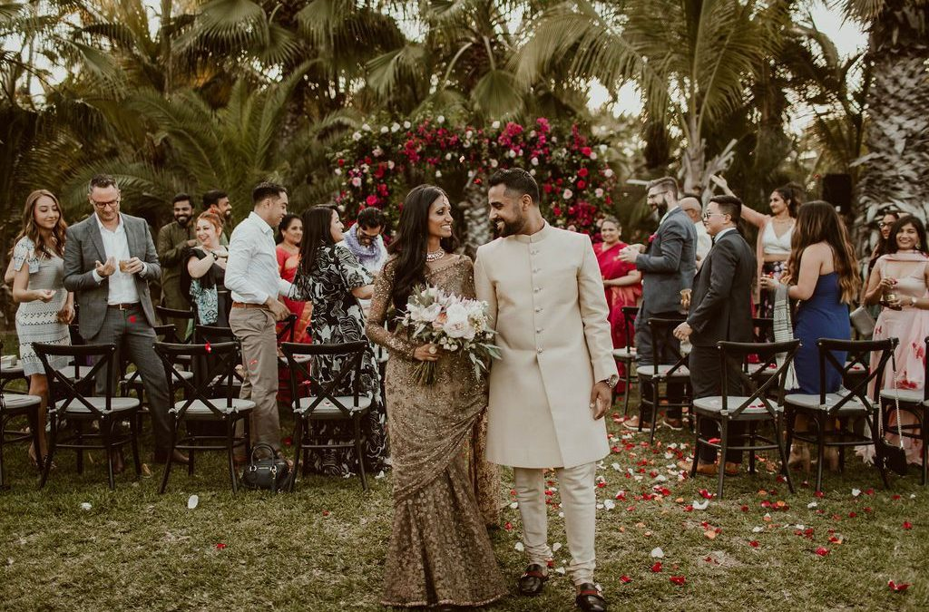 Tropical Disco-Inspired Wedding Featured on Brides